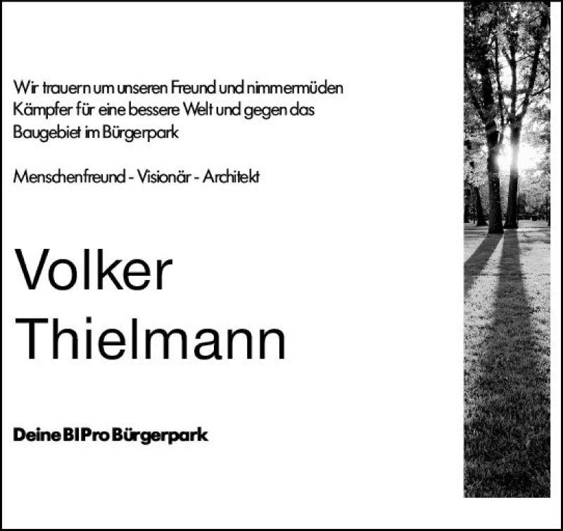 Traueranzeige von  Volker Thielmann